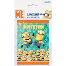 Invitation Card Software Despicable Me Minions Invitations 8ct Walmart Com