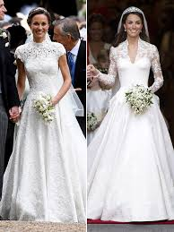 wedding dress kate middleton pippa kate middleton s wedding dresses whose stunning gown is