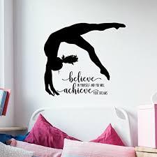 Dance Studio Decor Amazon Com Gymnastics Quote Wall Decal Dance Studio Decor
