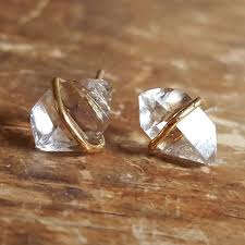 womens stud earrings herkimer diamond stud earrings earrings womens gift