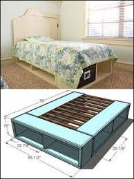 Plans For A Platform Bed Frame by Awesome Storage Platform Bed Plans