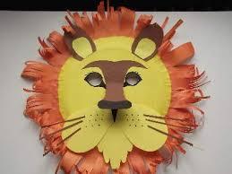 lion mask paper plate lion mask