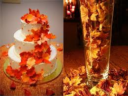 Fall Wedding Centerpieces Fall Leaves Orange Wedding Inspiration Cake Centerpiece Equally