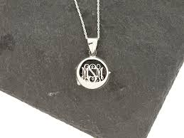 monogram locket necklace monogram locket necklace sterling knot