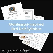 montessori writing paper every star is different shop montessori inspired bird unit syllabus