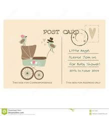 vintage baby shower invitations vintage baby shower greeting postcard invitation stock