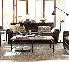 stupendous pottery barn leather sofa for house design u2013 gradfly co