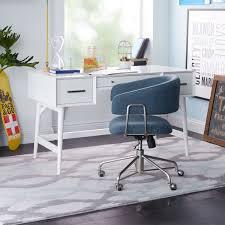 mid century desk white west elm uk