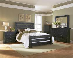 Black Distressed Bedroom Furniture by Progressive Furniture Willow Queen Upholstered Headboard With