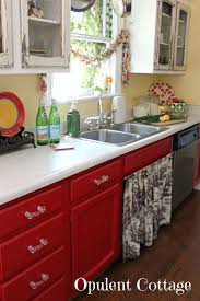 How To Paint Old Kitchen Cabinets Ideas by Best 20 Red Kitchen Cabinets Ideas On Pinterest Red Cabinets