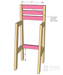 High Chair Table And Chair Ana White Doll High Chair Diy Projects