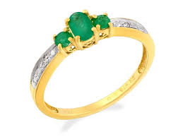 emerald rings uk 9ct gold diamond and emerald ring r0905 f hinds jewellers