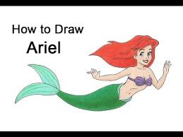 draw ariel mermaid body