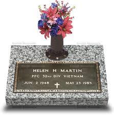 bronze cemetery markers grave marker w vase vet 2
