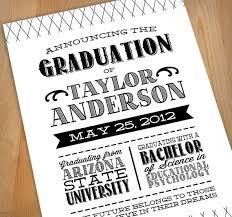design graduation announcements letterpress printable graduation announcement by printasticdesign
