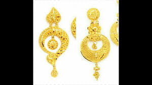 gold ear rings images 22k gold earrings indian gold earrings designs images
