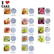 14pcs lot russian tulip plastic icing piping nozzles making flower