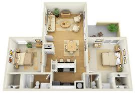 Floor Plan 2 Bedroom Apartment Renoir 2x2 3d Floor Plan For Websites U0026 Downloading Bedrooms