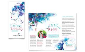 tri fold brochure template indesign free cosmetology brochure template by stocklayouts health