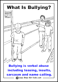 printable anti bullying colouring pages