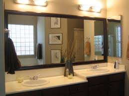 Large Framed Bathroom Mirror Brilliant Large Framed Bathroom Mirrors Bathroom Design Ideas