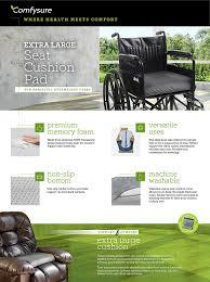 Back Pain Chair Cushion Amazon Com Comfysure Extra Large Seat Cushion Pad For Bariatric