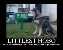 Hobo Memes - littlest hobo demote by battybuddy on deviantart