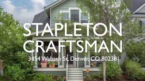 stapleton craftsman home for sale wonderland homes youtube