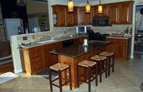 kitchen island with seating butcher block wooden dining table