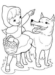 red riding hood direction wolf coloring pages batch