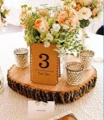 Wedding Centerpiece Stands by Best 20 Wood Slab Centerpiece Ideas On Pinterest Rustic