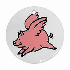 flying pig ornaments collection on ebay