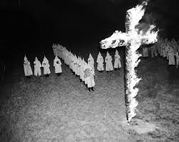 Black Flag With White Cross Why Does The Ku Klux Klan Burn Crosses They Got The Idea From A