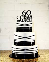 60th birthday cake topper 60 years loved custom 60th