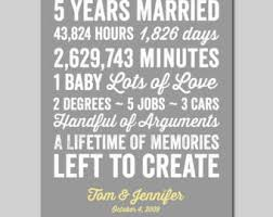 five year wedding anniversary gift 20 year anniversary gift wedding anniversary gift print gift