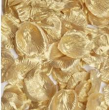 silk petals metallic gold silk petals confetti table scatters party