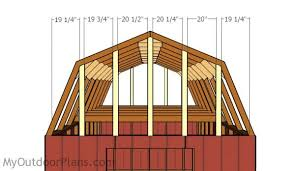 Barn Roof Angles 12x16 Gambrel Shed Roof Plans Myoutdoorplans Free Woodworking