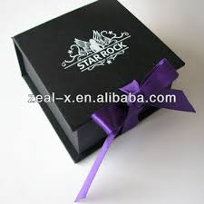 black bracelet box images Luxury matte black paperboard folded jewelry silk gift wedding jpg