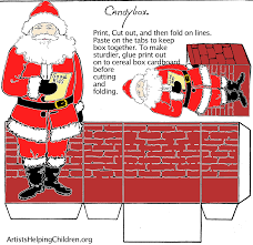 paper crafts templates make a santa clause paper candy box with