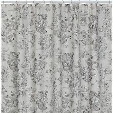 Sketchbook Botanical Toile Shower Curtain