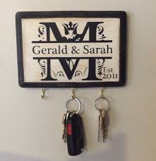 monogrammed wedding gift personalized wedding gift monogram key holder awesome for