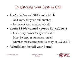 project 2 kernel hacking cs 3013 a term programming project 2