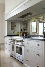 kitchen of the day britannia cooker with a mirror backsplash