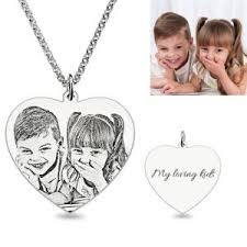 Photo Engraved Necklace Personalized Mother U0027s Jewelry