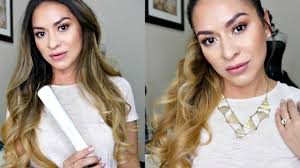 how to make flicks with a hair straightener how to curl hair with a straightener ghd platinum styler youtube