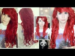 how to put red hair in on the dide with 27 pieceyoutube reviewtorial bright red hair extensions how to curl put in