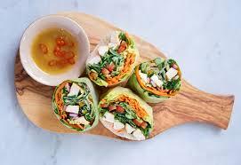 paper wraps recipe chicken and veggie rice paper rolls recipegeek