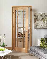 Glass Fire Doors by Worcester 3 Light Internal Oak Fire Door With Clear Glass