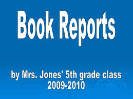 book report template 5th grade power point book reports j5