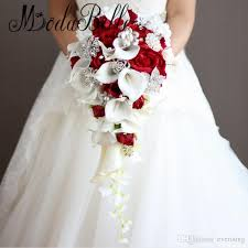 brides bouquet artificial pearl and bridal bouquet ivory brides handmade